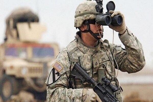 A bomb explodes on way of US terrorist army in Iraq