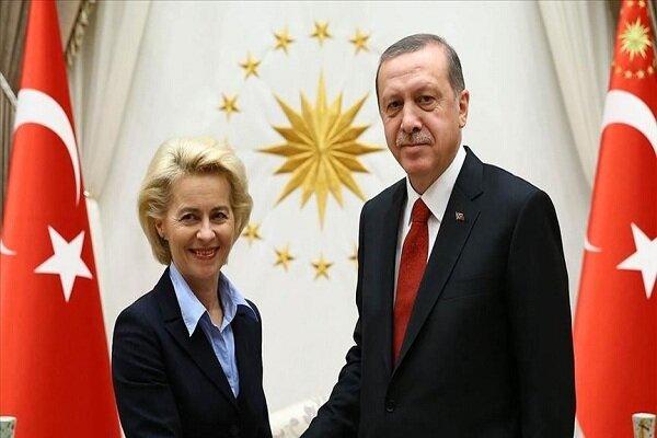 اردوغان و رئیس کمیسیون اتحادیه اروپا گفتگو کردند
