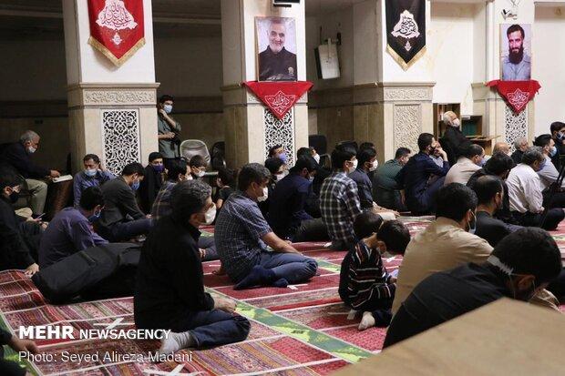 بزرگداشت شهدای گردان تخریب در مسجد جامع قلهک