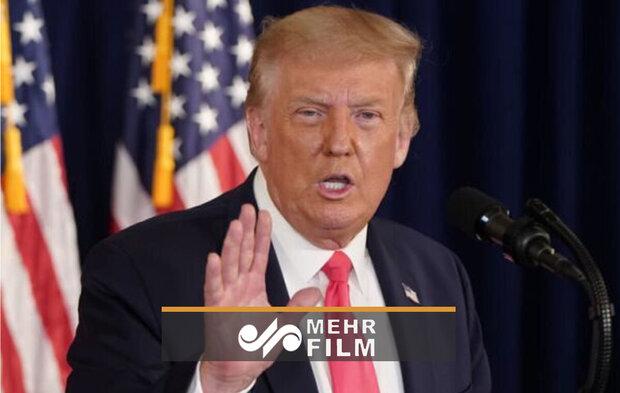 امریکی صدر ٹرمپ نے پریس کانفرنس ناتمام چھوڑ دی