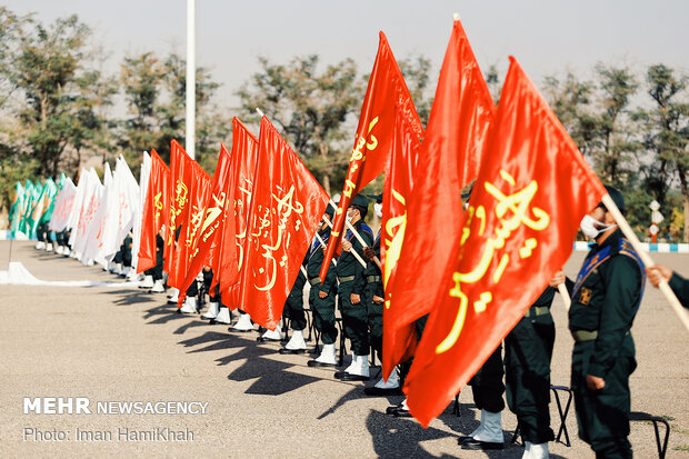 Armed forces hold joint morning ritual in Hamedan