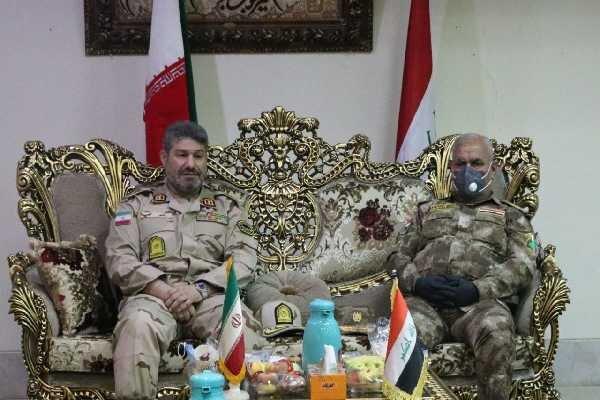 نشست فرمانده مرزبانی کرمانشاه و فرمانده مرزبانی منطقه سوم عراق