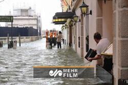 İtalya'daki sel felaketinden görüntüler