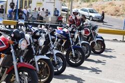 رقابت موتورسواران به مناسبت هفته دفاع مقدس در تبریز