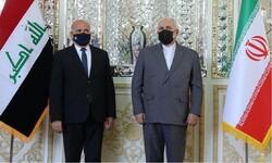 تہران میں عراق کے وزیر خارجہ کی ایرانی وزیر خارجہ سے ملاقات