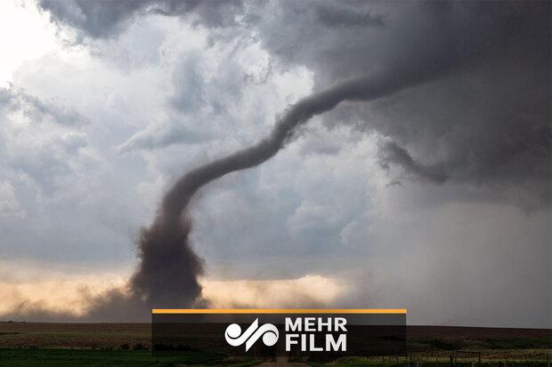 گردباد در سواحل کارولینای جنوبی در آمریکا