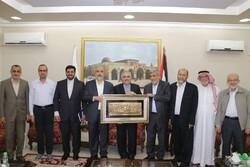 حرکة حماس تعرب عن شكرها للسفير الإيراني لدى قطر