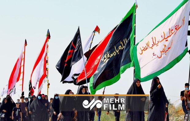 شعار مرگ بر آمریکا در راهپیمایی اربعین عراقی ها