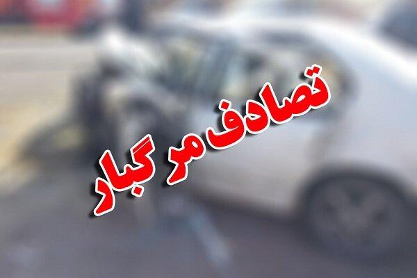 تصادف مرگبار در محور زاهدان – خاش/۱۴ نفر جان باختند