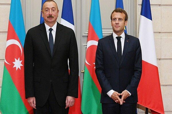 Aliyev ve Macron, Karabağ krizini görüştü