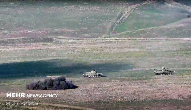 Azerbaycan Ermenistan'ın muharebe aracını böyle imha etti
