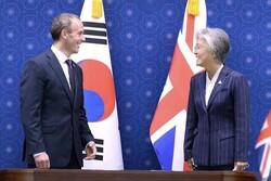 بازدید وزیر خارجه انگلیس از مناطق مرزی دو کُره