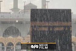 تصاویری از بارش شدید باران در مکه مکرمه