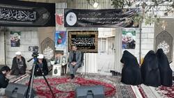 مراسم روضهخوانی مقابل منزل شهید محمدرضا علافان