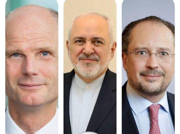 Zarif confers on regional issues with Dutch, Austrian FMs