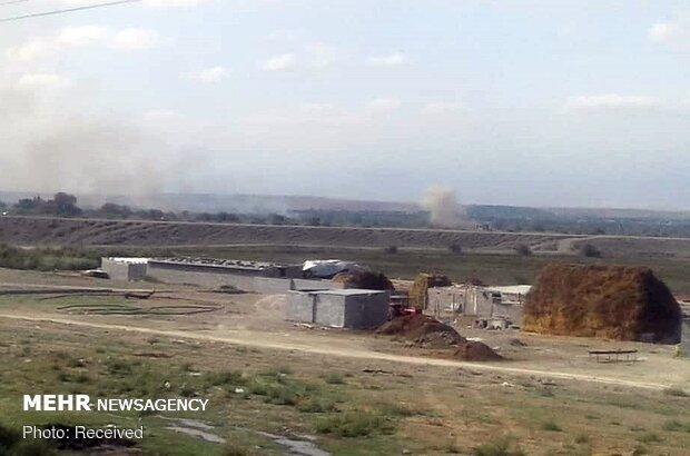 VIDEO: Mortar shells of Karabakh conflict land in Iran