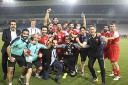 شادی بازیکنان پرسپولیس بعد از صعود به فینال لیگ قهرمانان آسیا