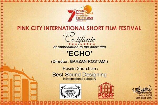 انيميشن إيكو الإيراني يحصد جائزة أفضل تصميم صوت من مهرجان هندي