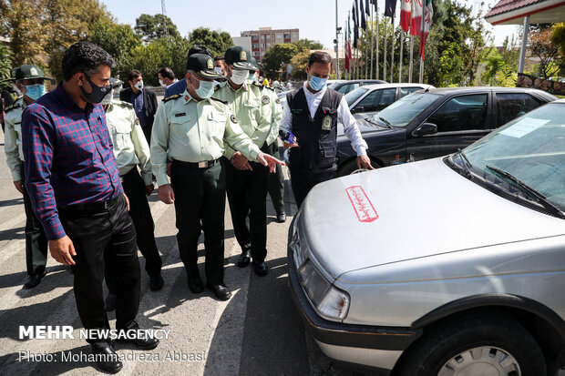 Tehran Police showcases discovered items from criminals