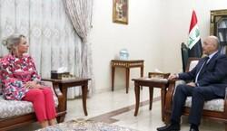 الرئيس العراقي وبلاسخارت والبحث عن تحقیق النزاهة في الانتخابات المقبلة