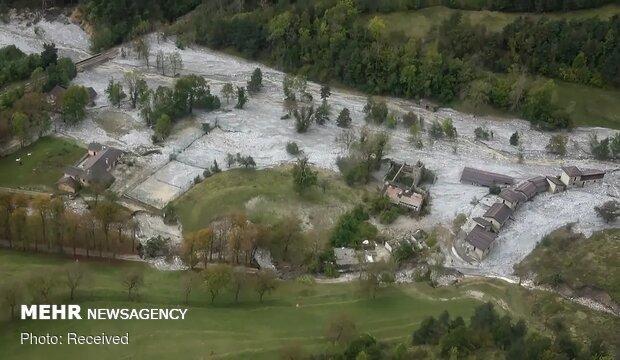 طوفان و سیل در فرانسه و ایتالیا