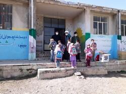 اهدای بستههای لوازم التحریر به دانشآموزان روستاهای قزوین