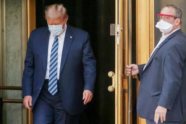 امریکی صدر ٹرمپ ملٹری اسپتال سے ڈسچارج