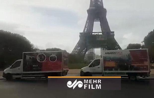 یورپ کے شیعوں کا سید الشہدا کے اربعین کی مناسبت نے گاڑیوں کا قافلہ