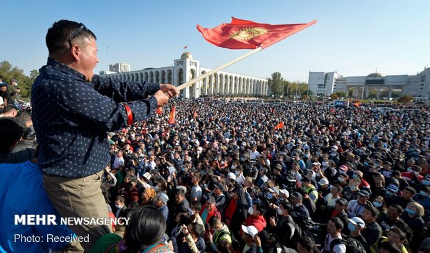قرقیزستان میں پارلیمانی انتخابات کے نتائج کے خلاف احتجاج