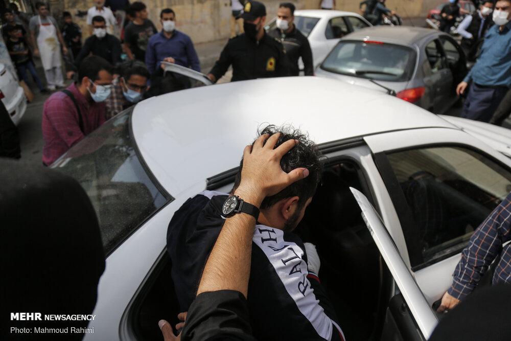 شلیک پلیس پایان کار سارق زورگیر سعادت آباد
