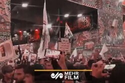 VIDEO: Arbaeen pilgrims at holy shrine of Imam Hussein (PBUH)