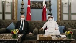 أردوغان يلتقي أمير قطر في الدوحة