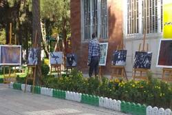 نمایشگاه مفهومی خیابانی تا ثریا در کرمانشاه برپا شد