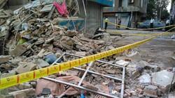 پایان عملیات آتش نشانان/ فوت ۲ نفر در حادثه ریزش دیوار خیابان ابوذر