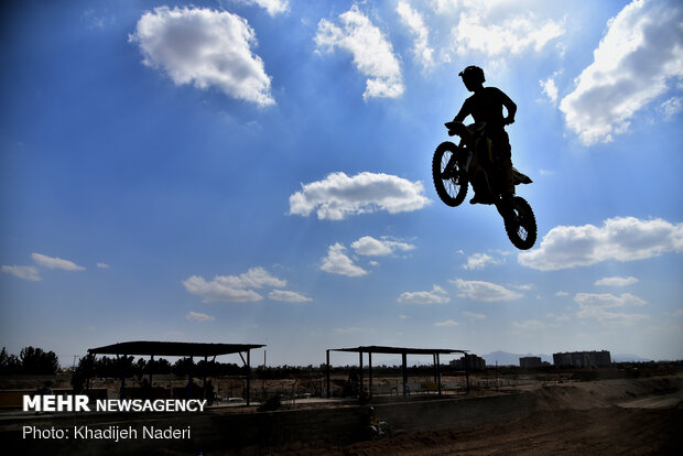 Motocross competition in Isfahan prov.