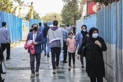 تہران میں ماسک کا استعمال لازمی