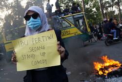 اعتراضات کارگری به قانون جدید کار در اندونزی