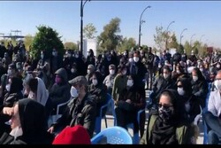 حضور مردم در مراسم خاکسپاری استاد محمدرضا شجریان