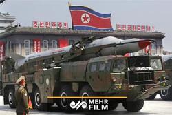 برگزاری رژه نظامی در کره شمالی با حضور کیم جونگ اون