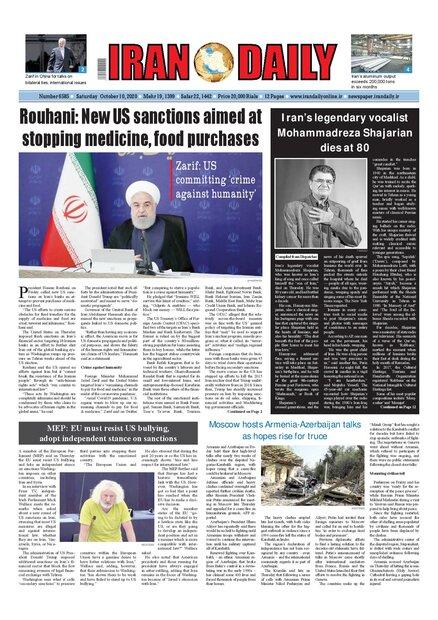 Iran daily Oct 10