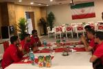 نشست سرمربی تیم ملی فوتبال با چهار بازیکن