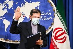 ایرانی وزارت خارجہ کے ترجمان کا صحافیوں سے خطاب