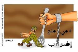 اضراب الاسرى الفلسطينيين عن الطعام والشراب