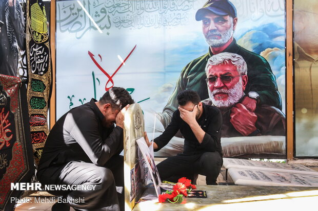 نجف اشرف میں وادی السلام میں شہید ابو مہدی مہندس کا مزار