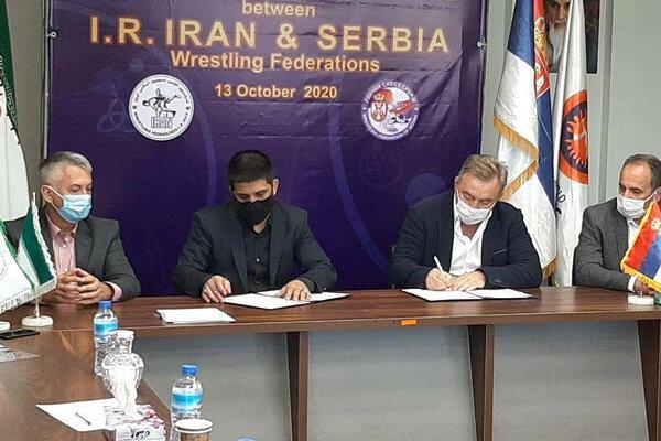 Iranian, Serbian wrestling federations sign MoU