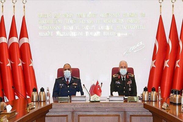 رؤسای ستادکل ارتش ترکیه و قطر دیدار کردند