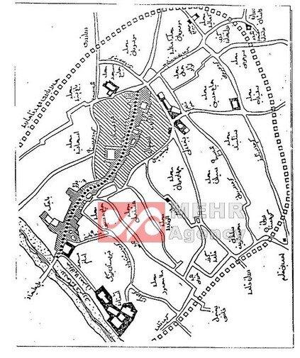 نقشه محلات قدیمی قم