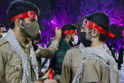 مراسم وداع با پیکرهای مطهر شهدای مدافع حرم مازندران