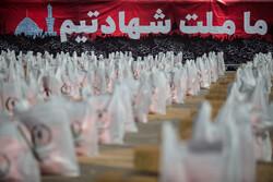 اهدای ۲۰۰ بسته سبد کالا به نیازمندان تاکستان