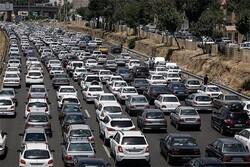 ترافیک سنگین در جاده هراز